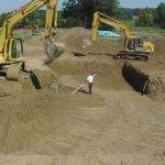 Cleveland excavation contractors use large diggers for foundation excavation project