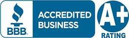 Better Business Bureau Logo with A+ Rating Displayed Earned by Sitework Developing Inc Near Cleveland Ohio
