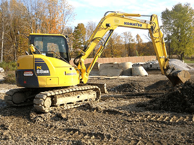 excavation contractors digging near Cleveland Sitework Developing Chagrin Falls, Ohio