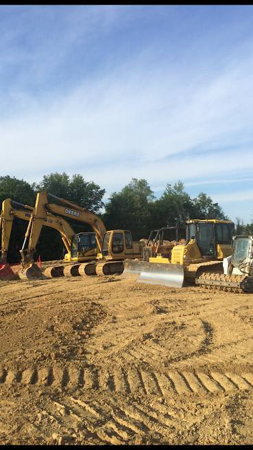 different sizes of land clearing, land grading, and excavation equipment on site Cleveland, Ohio owned by Sitework Developing in Chagrin Falls